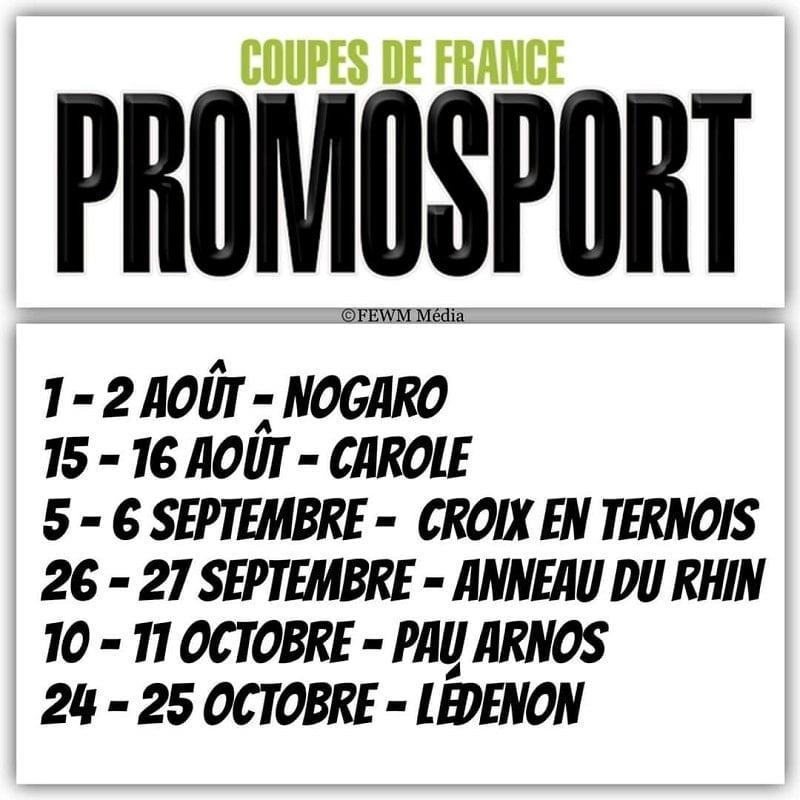 Calendrier Promosport 2021 Nouveau calendrier pour les Promosport   Paddock GP